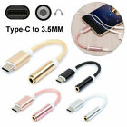 Nylon USB Type C to 3.5mm Headphone AUX Cable for Samsung S8...