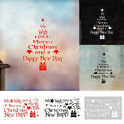 Merry Christmas New Year Removable Wall Sticker Window Home Xmas Party Decor