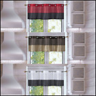 """1PC LINED VALANCE TOPPER KITCHEN WINDOW CURTAIN GROMMETS TWO TONE EID 24""""L"""