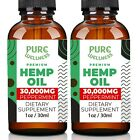 Hemp Oil 30,000mg | Organic | Discover the Benefits of Hemp Seed Oil (2-Pack)