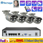 4CH 1080P Two Way Audio Video Outdoor Indoor Home POE NVR Camera Security System