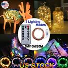 Christmas LED String Fairy Lights USB Copper Wire Remote Timer Xmas Party Decor