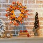 Fall Maple Leaves Garland Christmas Artificial Hanging Plant Wreath Home Decor