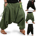 Mens Casual Loose Harem Trousers Hippie Thai Alibaba Festival Yoga Baggy Pants