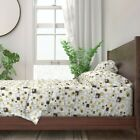 Geometric Mid Century Retro Square 100% Cotton Sateen Sheet Set by Roostery
