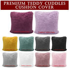 Teddy Hug and Snug Cushion Cover Soft & Cosy Fluffy Faux Fur 43 x 43 Pack of 4