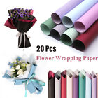 20PCS Translucent Waterproof Paper Flower Bouquet Wrapping DIY Gift Packing