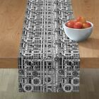 Table Runner Steampunk Pipes Mechanical Gears Rustic Look Cotton Sateen