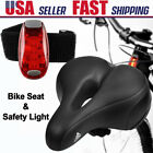 Comfort Wide Big Bum Soft Gel Cruiser Bike Bicycle Night Clip On Rear Tail Light