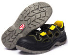 Men's Leather Breathable Safety Shoes Steel Toe Anti Puncture Work Boots Sandals