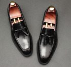 Mens Low Top Real Leather Business Shoes Pointy Toe Work Tassels Party Oxfords
