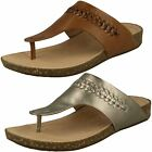 LADIES UNSTRUCTURED CLARKS UN PERRI VIBE LEATHER CASUAL TOE POST SANDALS SIZE
