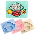Baby Anti-Drop Food Grade Silicone Dinner Plate Divided Tableware Meal Bowl Chan