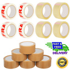 Buff Brown Clear Packaging Parcel Packing Tape Strong 48mm x 50m Fragile 6 12