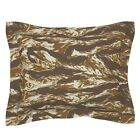 Scifi Alien Marine Tiger Stripe Camo Pillow Sham by Roostery