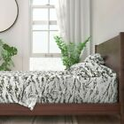 Snow Tiger Stripe Camo 100% Cotton Sateen Sheet Set by Roostery