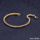 18K Yellow Real Solid Gold Filled Rope Keel Twist 8