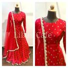 Georgette embroidery work with bottom side work front n back duptta come