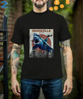 Sharkzilla Funny Shark T-Shirt Shark Lovers Gift Size S-5XL