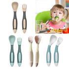 Baby Spoon  Fork Toddler Utensils Self Feeding Training Bendable Set K