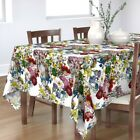 Tablecloth Flowers Floral Botanical Antique Redoute Vines Spring Cotton Sateen