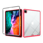 """For iPad Pro 12.9"""" 2020(4th Gen) Case Clear Rubber Bumper Shockproof Slim Cover"""