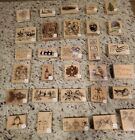 Wood Mounted Rubber Stamps RARE and HTF- YOU CHOOSE