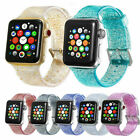 Shiny Glitter Silicone Wrist Strap For Apple Watch 38/40/42/44mm Iwatch Band