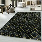 NAXOS GREEK HISTORICAL MARBLE-LIKE SOFT RUG IN GOLD SILVER ON BLACK OR WHITE