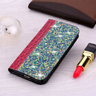 For Huawei P Smart 2019 P40 P30 Lite Bling Wallet Case Flip Card Leather Cover