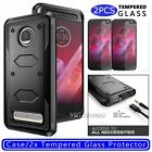 For Motorola Moto Z2 Play/Z2 Force Case Protective Hybrid Cover / Tempered Glass