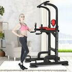 Adjustable Dip Station Chin Pull Up Bar Power Tower Home Gym Core Fitness NEW ✌