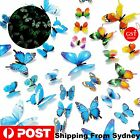 12-36pcs Luminous Butterfly Design Decal Art Wall Stickers Room Home Decoration
