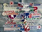 Airlines Stickers Turkish Emirates China JAL ANA Canada Asia Europe America