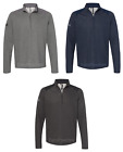 ADIDAS - Heathered Pullover with Colorblocked Shoulders, Top Golf Warm-up Jacket