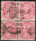 India 1855 SG 49 bloc of 4 some small faults CANC Fine