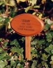 Pet Memorial Oval hardwood  engraved with stake