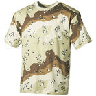 6-COLOUR DESERT CAMO TEE MENS COMBAT TOP ARMY CADET COTTON T-SHIRT AIRSOFT S-3XL