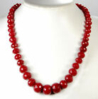 """5x8-12x16mm Faceted Red Jade Beads 19"""""""