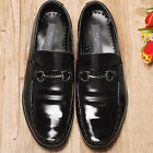 Motion Black Leather Mens Dress Loafers Shoes All Size