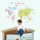 WORLD MAP Removable Art Deco Mural Wall Sticker PS58200