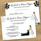 Personalised Day Or Evening Funny Wedding Invitations + Envs Bride Pulling Groom