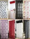 "Voile Panel Net Curtain 14 Great Designs 48"" 54"" 72"" 90"" ~ Many Patterns & Sizes"