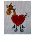 "Needlepoint canvas ""Valentine Horse"""