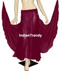 VRed 2 Full Side Slit Layer Skirt Belly Dance Costume