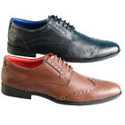 Mens Black And Brown Leather Brogues  6 7 8 9 10 11 12