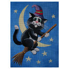 "Needlepoint canvas ""Halloween Sweet Cat"""
