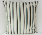 OATMEAL STRIPED CUSHION COVERS SINGLE TRENDY NEW TEAL BROWN