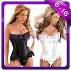 New Busiter Boned Lace up corset top,thong S,M,L,XL,2XL