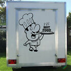 Catering Van Sticker HOT FOOD CHEF Trailer Graphic Transfer